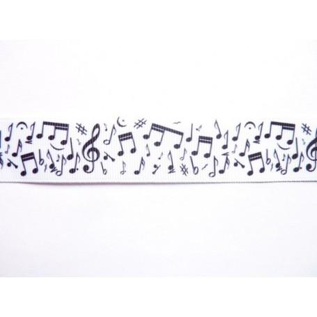 Ruban gros grain notes de musique