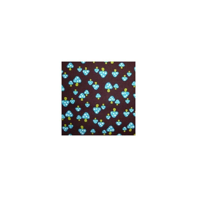Tissu japonais Kokka Champignons bleus