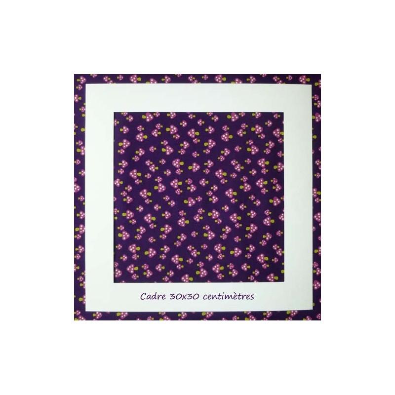 Tissu japonais Kokka Champignons violets