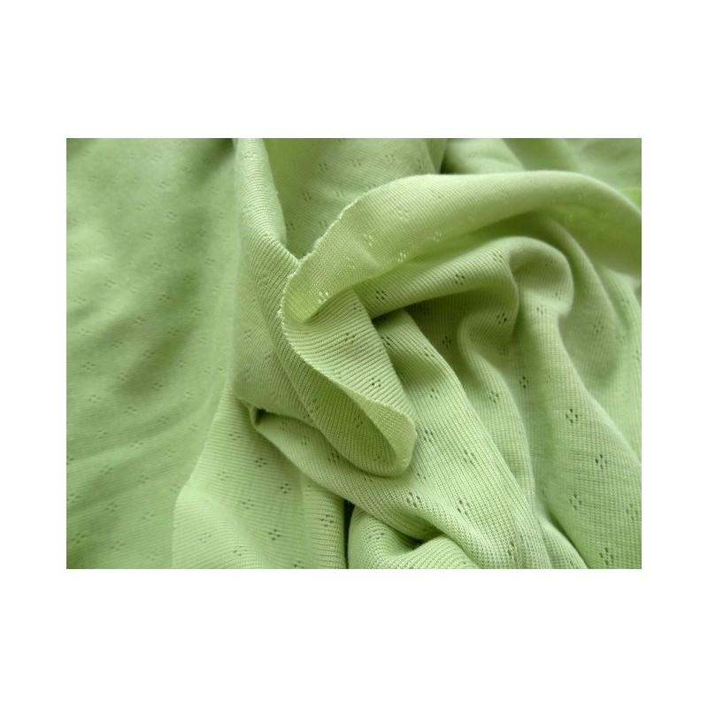 Jersey ajouré vert clair