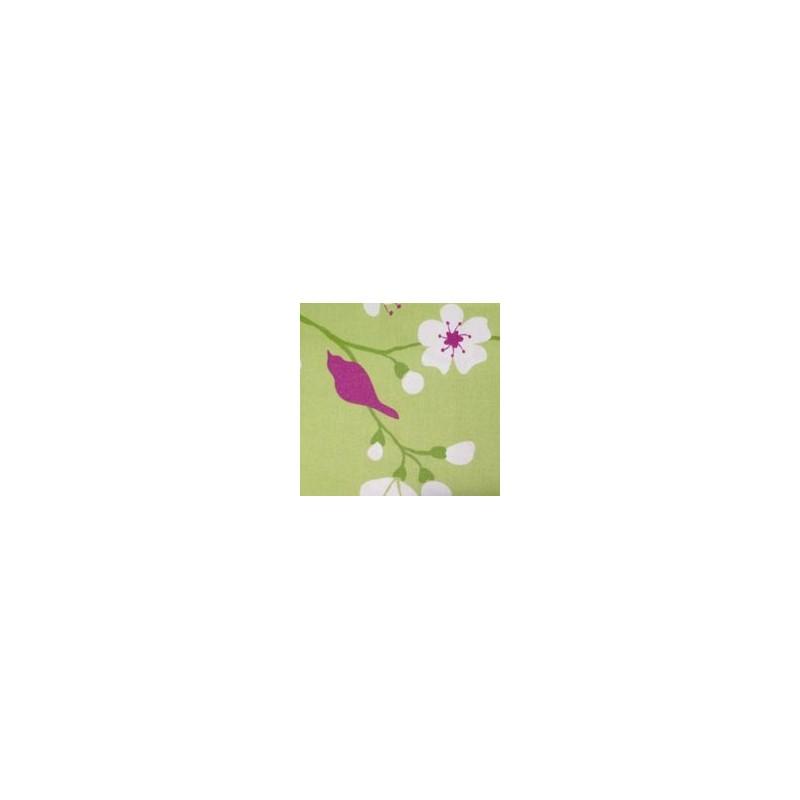 Coton Enduit Cerisier vert