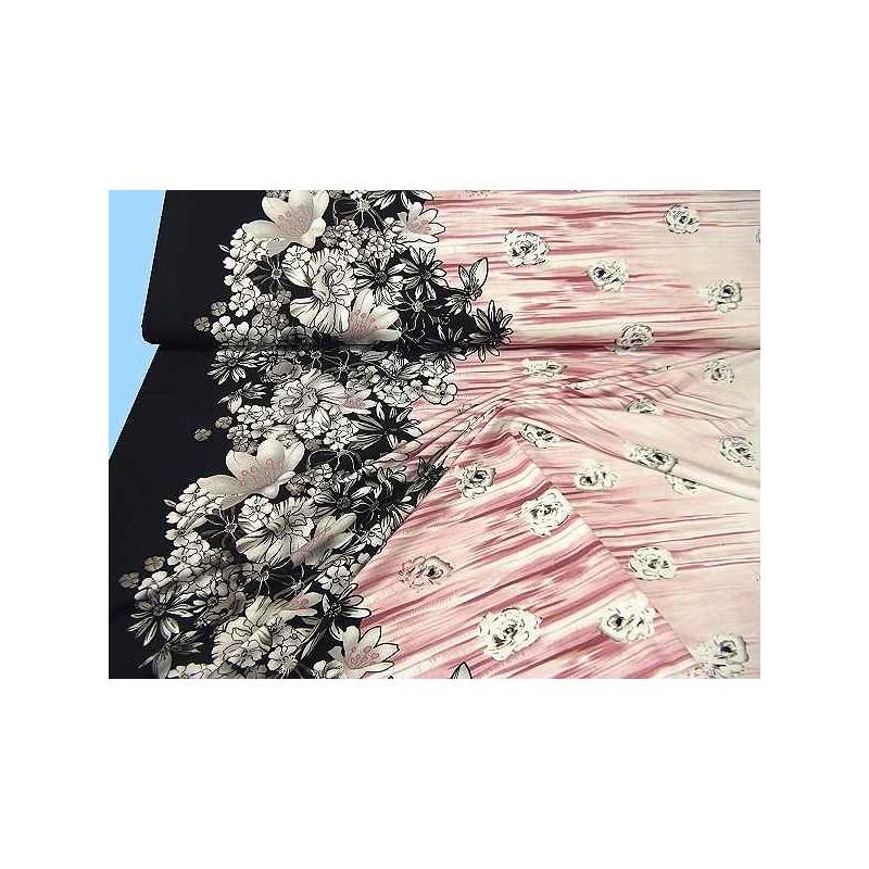 Jersey bicolore noir et rose