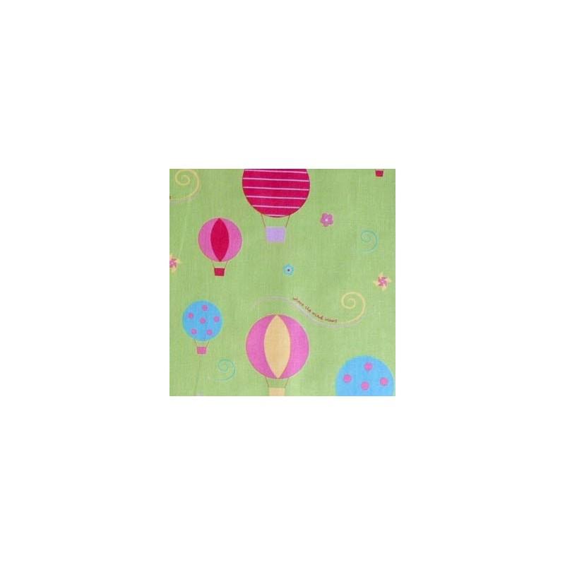 Tissu Melly & Me Balloons Vert