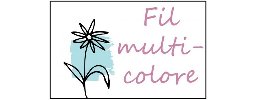 Fil à broder multicolores