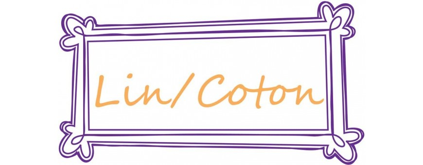Tissus mélanges lin et coton