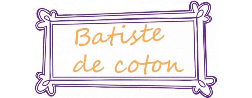 Fines batistes de coton idéales pour la confection de vêtements.